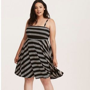 Torrid Stripe Strapless Dress Size 00 /Size 10 M/L